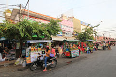 Street view in Siem Reap Stock Images