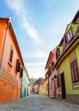 Street view in Sighisoara, Transylvania,Romania Royalty Free Stock Photo
