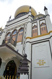 Street view of Singapore with Masjid Sultan Royalty Free Stock Photo