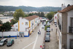 Street view of a small Portuguese town Stock Photos