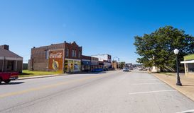 Street view in a small village in Oklahoma at Route 66 - STROUD - OKLAHOMA - OCTOBER 16, 2017. Photography Stock Photo