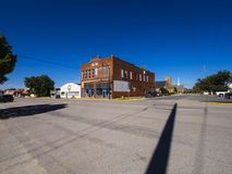 Street view in a small village in Oklahoma at Route 66 - STROUD - OKLAHOMA - OCTOBER 16, 2017 Stock Photography