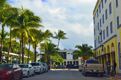 Street view South Beach, Miami Stock Photography