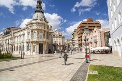 Street view, square, Plaza Heroes de Cavite, historic center and touristic point city,Cartagena Royalty Free Stock Images