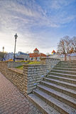 Street view of stairs and Tower in the Old city of Tallinn in Es Royalty Free Stock Image