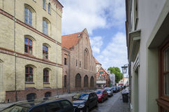 Street View in Stralsund, Germany Royalty Free Stock Images