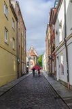 Street View in Stralsund, Germany royalty free stock photography