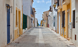 Street view in Tabarca, Alicante Stock Photo
