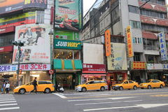 Street view in Taichung Stock Image