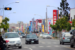 Street view in Taiwan. Touristic town in south of Taiwan. Main Road in Hengchun, Taiwan royalty free stock images