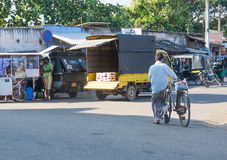 Street view in Tangalle Royalty Free Stock Photo