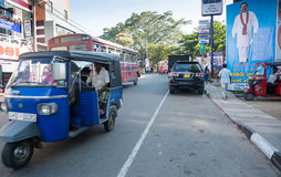 Street view in Tangalle Royalty Free Stock Image