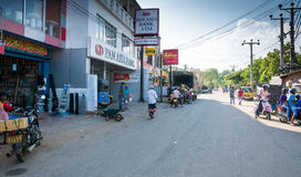 Street view in Tangalle Royalty Free Stock Images