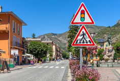 Street view of Tende, France. Royalty Free Stock Photo