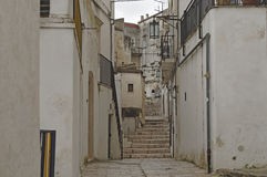 Street view of thecenter of monte sant angelo Royalty Free Stock Photography