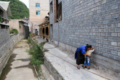 Street view in Tianlong Tunbao town China Stock Photo