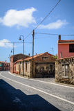 Street view of Tinnura, Sardinia Royalty Free Stock Image