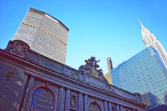 Street view to Entrance in Grand Central Terminal Building Royalty Free Stock Photography