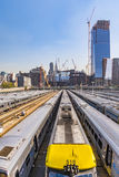 Street view to  neighborhood Midtown with Penn Station in New Yo. NEW YORK, USA - OCT 21, 2015: street view to  neighborhood Midtown with Penn Station in New Royalty Free Stock Images
