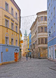 Street view to Parish Church in Linz in Austria Stock Photography