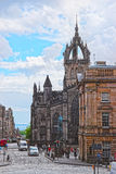 Street View to St Giles Cathedral in Edinburgh in Scotland Royalty Free Stock Photos