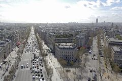 Champs Elysee street Stock Images