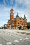 Street view of the town hall in Helsingborg Royalty Free Stock Photos