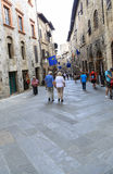 The street view in a town,italy Royalty Free Stock Photography