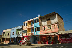 Street view in the town of Puerto Lopez, Manabi Royalty Free Stock Photo