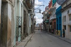 Street view, travel general imagery from La Havana, Cuba. Street view, travel general imagery from Cuba, on december 26, 2016, in La Havana, Cuba Stock Image