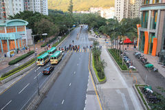 Street view in tseung kwan o Stock Images