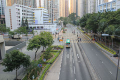 Street view in tseung kwan o Royalty Free Stock Image