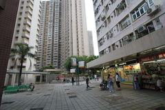 Street view in tseung kwan o Stock Photo