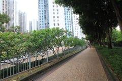 Street view in tseung kwan o royalty free stock photos