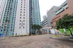 Street view in tseung kwan o Royalty Free Stock Photography