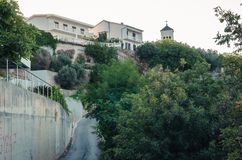 Street view of Ulcinj, Montenegro. In sunny day Royalty Free Stock Photos