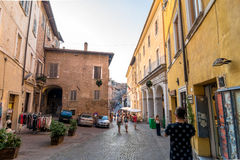 Street view in Urbino, Italy Stock Image