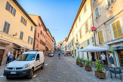 Street view in Urbino, Italy Royalty Free Stock Photography