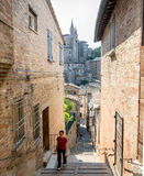 Street view in Urbino, Italy Royalty Free Stock Photos