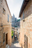 Street view in Urbino, Italy Stock Images