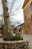 Street view in Valldemossa, Mallorca, Spain closeup. Vertical Stock Images