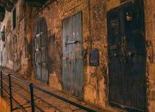 Street view in Valletta, Malta. Night street view in Valletta, Malta stock photography