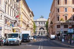 Street view of Via Giuseppe Zanardelli, Rome Royalty Free Stock Image