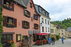 Street view in Vianden, Luxembourg Royalty Free Stock Photo