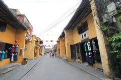 Street view of Vietnam Hoi An Ancient Town street Royalty Free Stock Photos