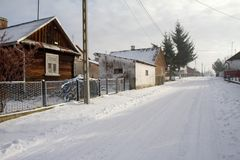 Street view of a village Stock Photos
