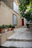 Street view in village of provence, France Stock Photos