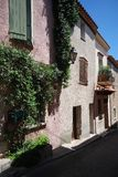 Street view in village of provence, France Royalty Free Stock Image