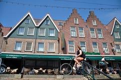 Street view of Volendam city, Netherlands Stock Photos
