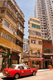 Street view in Wan Chai, Hong Kong Royalty Free Stock Image